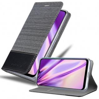 Cadorabo Hülle für Huawei P SMART PLUS in GRAU SCHWARZ Handyhülle mit Magnetverschluss, Standfunktion und Kartenfach Case Cover Schutzhülle Etui Tasche Book Klapp Style