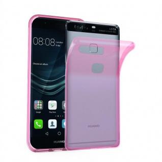 Cadorabo Hülle für Huawei P9 PLUS in TRANSPARENT PINK - Handyhülle aus flexiblem TPU Silikon - Silikonhülle Schutzhülle Ultra Slim Soft Back Cover Case Bumper