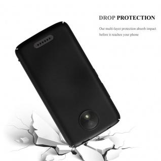 Cadorabo Hülle für Motorola MOTO C in METALL SCHWARZ - Hardcase Handyhülle aus Plastik gegen Kratzer und Stöße - Schutzhülle Bumper Ultra Slim Back Case Hard Cover - Vorschau 3
