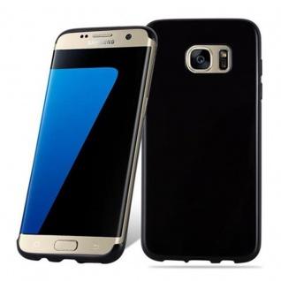 Cadorabo Hülle für Samsung Galaxy S7 EDGE in SCHWARZ - Handyhülle aus flexiblem TPU Silikon - Silikonhülle Schutzhülle Ultra Slim Soft Back Cover Case Bumper