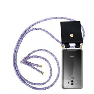 Cadorabo Handy Kette für Huawei MATE 10 PRO in UNICORN - Silikon Necklace Umhänge Hülle mit Gold Ringen, Kordel Band Schnur und abnehmbarem Etui ? Schutzhülle
