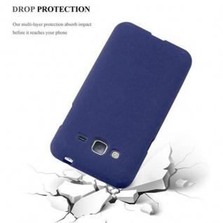 Cadorabo Hülle für Samsung Galaxy J3 / J3 DUOS 2016 in FROST DUNKEL BLAU - Handyhülle aus flexiblem TPU Silikon - Silikonhülle Schutzhülle Ultra Slim Soft Back Cover Case Bumper - Vorschau 5