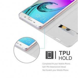 Cadorabo Hülle für Samsung Galaxy A3 2016 in CLASSY SILBER - Handyhülle mit Magnetverschluss, Standfunktion und Kartenfach - Case Cover Schutzhülle Etui Tasche Book Klapp Style - Vorschau 2