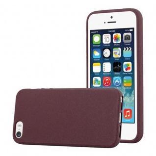 Cadorabo Hülle für Apple iPhone 5 / iPhone 5S / iPhone SE in FROST BORDEAUX LILA - Handyhülle aus flexiblem TPU Silikon - Silikonhülle Schutzhülle Ultra Slim Soft Back Cover Case Bumper