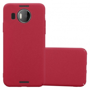 Cadorabo Hülle für Nokia Lumia 950 XL in FROSTY ROT - Hardcase Handyhülle aus Plastik gegen Kratzer und Stöße - Schutzhülle Bumper Ultra Slim Back Case Hard Cover