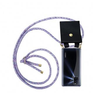 Cadorabo Handy Kette für Oppo A72 in UNICORN Silikon Necklace Umhänge Hülle mit Gold Ringen, Kordel Band Schnur und abnehmbarem Etui Schutzhülle