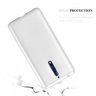 Cadorabo Hülle für Nokia 8 2017 in METALLIC SILBER - Handyhülle aus flexiblem TPU Silikon - Silikonhülle Schutzhülle Ultra Slim Soft Back Cover Case Bumper - Vorschau 3