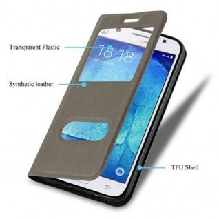 Cadorabo Hülle für Samsung Galaxy J5 2015 in STEIN BRAUN ? Handyhülle mit Magnetverschluss, Standfunktion und 2 Sichtfenstern ? Case Cover Schutzhülle Etui Tasche Book Klapp Style - Vorschau 3