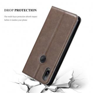 Cadorabo Hülle für Samsung Galaxy A6S in KAFFEE BRAUN - Handyhülle mit Magnetverschluss, Standfunktion und Kartenfach - Case Cover Schutzhülle Etui Tasche Book Klapp Style - Vorschau 5
