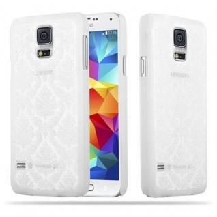 Samsung Galaxy S5 / S5 NEO Hardcase Hülle in WEIß von Cadorabo - Blumen Paisley Henna Design Schutzhülle ? Handyhülle Bumper Back Case Cover