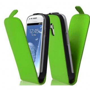 Cadorabo Hülle für Samsung Galaxy S3 MINI - Hülle in GIFT GRÜN ? Handyhülle aus glattem Kunstleder im Flip Design - Case Cover Schutzhülle Etui Tasche