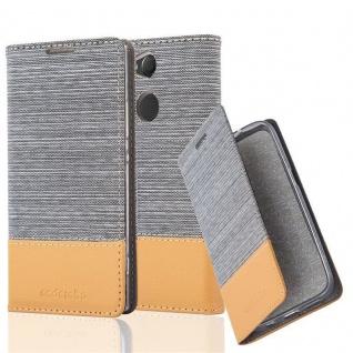 Cadorabo Hülle für Sony Xperia XA2 in HELL GRAU BRAUN - Handyhülle mit Magnetverschluss, Standfunktion und Kartenfach - Case Cover Schutzhülle Etui Tasche Book Klapp Style