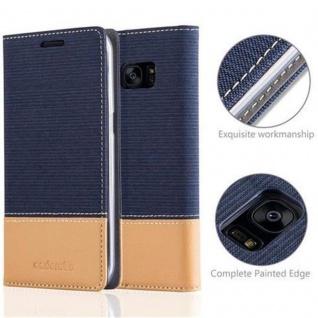 Cadorabo Hülle für Samsung Galaxy S7 EDGE in DUNKEL BLAU BRAUN - Handyhülle mit Magnetverschluss, Standfunktion und Kartenfach - Case Cover Schutzhülle Etui Tasche Book Klapp Style - Vorschau 2