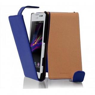 Cadorabo Hülle für Sony Xperia C in KÖNIGS BLAU - Handyhülle im Flip Design aus strukturiertem Kunstleder - Case Cover Schutzhülle Etui Tasche Book Klapp Style