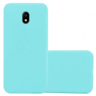 Cadorabo Hülle für Samsung Galaxy J3 2017 US in CANDY DUNKEL BLAU - Handyhülle aus flexiblem TPU Silikon - Silikonhülle Schutzhülle Ultra Slim Soft Back Cover Case Bumper