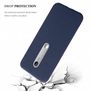 Cadorabo Hülle für Motorola MOTO G3 in FROSTY BLAU - Hardcase Handyhülle aus Plastik gegen Kratzer und Stöße - Schutzhülle Bumper Ultra Slim Back Case Hard Cover - Vorschau 4