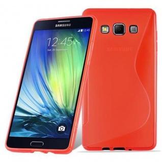 Cadorabo Hülle für Samsung Galaxy A7 2015 in INFERNO ROT - Handyhülle aus flexiblem TPU Silikon - Silikonhülle Schutzhülle Ultra Slim Soft Back Cover Case Bumper