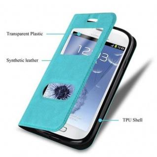 Cadorabo Hülle für Samsung Galaxy S3 MINI in MINT TÜRKIS - Handyhülle mit Magnetverschluss, Standfunktion und 2 Sichtfenstern - Case Cover Schutzhülle Etui Tasche Book Klapp Style - Vorschau 3