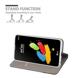 Cadorabo Hülle für LG STYLUS 2 in DUNKEL BLAU SCHWARZ - Handyhülle mit Magnetverschluss, Standfunktion und Kartenfach - Case Cover Schutzhülle Etui Tasche Book Klapp Style - Vorschau 3