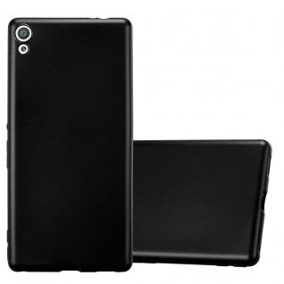 Cadorabo Hülle für Sony Xperia XA ULTRA in METALLIC SCHWARZ - Handyhülle aus flexiblem TPU Silikon - Silikonhülle Schutzhülle Ultra Slim Soft Back Cover Case Bumper
