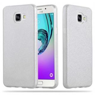 Cadorabo Hülle für Samsung Galaxy A5 2016 - Hülle in STERNENSTAUB SILBER ? TPU Silikon und Hardcase Handyhülle im Glitzer Design - Hard Case TPU Silikon Schutzhülle