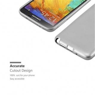 Cadorabo Hülle für Samsung Galaxy NOTE 3 in METALLIC SILBER - Handyhülle aus flexiblem TPU Silikon - Silikonhülle Schutzhülle Ultra Slim Soft Back Cover Case Bumper - Vorschau 2