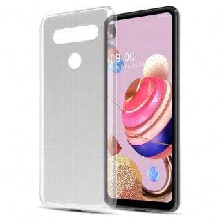 Cadorabo Hülle für LG K51s in VOLL TRANSPARENT Handyhülle aus flexiblem TPU Silikon Silikonhülle Schutzhülle Ultra Slim Soft Back Cover Case Bumper
