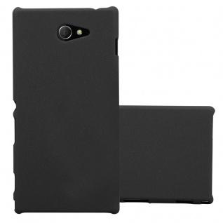 Cadorabo Hülle für Sony Xperia M2 / M2 Aqua in FROSTY SCHWARZ - Hardcase Handyhülle aus Plastik gegen Kratzer und Stöße - Schutzhülle Bumper Ultra Slim Back Case Hard Cover