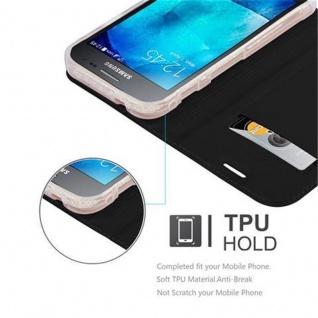 Cadorabo Hülle für Samsung Galaxy XCOVER 3 in CLASSY SCHWARZ - Handyhülle mit Magnetverschluss, Standfunktion und Kartenfach - Case Cover Schutzhülle Etui Tasche Book Klapp Style - Vorschau 2