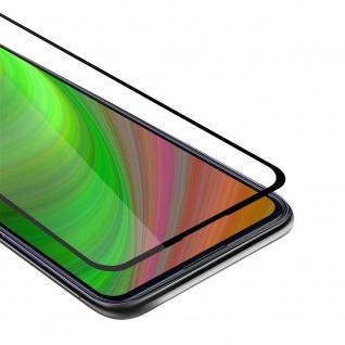 Cadorabo Vollbild Panzer Folie für Samsung Galaxy M11 Schutzfolie in TRANSPARENT mit SCHWARZ Gehärtetes (Tempered) Display-Schutzglas in 9H Härte mit 3D Touch