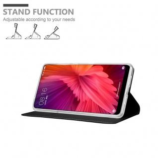 Cadorabo Hülle für Xiaomi Mi MIX 2 in CLASSY SCHWARZ - Handyhülle mit Magnetverschluss, Standfunktion und Kartenfach - Case Cover Schutzhülle Etui Tasche Book Klapp Style - Vorschau 4