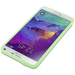 Cadorabo Hülle für Samsung Galaxy NOTE 4 in CANDY PASTELL GRÜN - Handyhülle aus flexiblem TPU Silikon - Silikonhülle Schutzhülle Ultra Slim Soft Back Cover Case Bumper - Vorschau 3