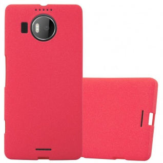 Cadorabo Hülle für Nokia Lumia 950 XL in FROST ROT - Handyhülle aus flexiblem TPU Silikon - Silikonhülle Schutzhülle Ultra Slim Soft Back Cover Case Bumper