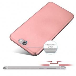 Cadorabo Hülle für HTC One A9 in METALL ROSÉ GOLD ? Hardcase Handyhülle aus Plastik gegen Kratzer und Stöße ? Schutzhülle Bumper Ultra Slim Back Case Hard Cover - Vorschau 4