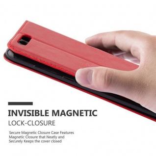 Cadorabo Hülle für Honor 9 in APFEL ROT Handyhülle mit Magnetverschluss, Standfunktion und Kartenfach Case Cover Schutzhülle Etui Tasche Book Klapp Style - Vorschau 4
