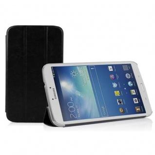 """"""" Cadorabo Hülle für Samsung Galaxy Tab 3, 0 (8"""" Zoll) - Hülle in DOMINO SCHWARZ ? Schutzhülle mit Auto Wake Sleep und Standfunktion - Book Style Etui Bumper Case Cover"""""""