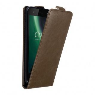 Cadorabo Hülle für Nokia 2 2017 in KAFFEE BRAUN - Handyhülle im Flip Design mit unsichtbarem Magnetverschluss - Case Cover Schutzhülle Etui Tasche Book Klapp Style