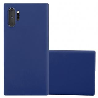 Cadorabo Hülle für Samsung Galaxy NOTE 10 PLUS in CANDY DUNKEL BLAU - Handyhülle aus flexiblem TPU Silikon - Silikonhülle Schutzhülle Ultra Slim Soft Back Cover Case Bumper