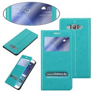 Cadorabo Hülle für Samsung Galaxy A8 2015 in MINT TÜRKIS ? Handyhülle mit Magnetverschluss, Standfunktion und 2 Sichtfenstern ? Case Cover Schutzhülle Etui Tasche Book Klapp Style - Vorschau 3