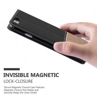 Cadorabo Hülle für Apple iPhone 6 PLUS / iPhone 6S PLUS in SCHWARZ BRAUN ? Handyhülle mit Magnetverschluss, Standfunktion und Kartenfach ? Case Cover Schutzhülle Etui Tasche Book Klapp Style - Vorschau 3