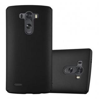 Cadorabo Hülle für LG G3 in METALL SCHWARZ - Hardcase Handyhülle aus Plastik gegen Kratzer und Stöße - Schutzhülle Bumper Ultra Slim Back Case Hard Cover