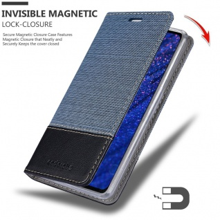 Cadorabo Hülle für Huawei MATE 20 in DUNKEL BLAU SCHWARZ - Handyhülle mit Magnetverschluss, Standfunktion und Kartenfach - Case Cover Schutzhülle Etui Tasche Book Klapp Style - Vorschau 3
