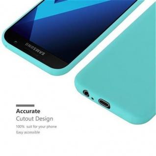 Cadorabo Hülle für Samsung Galaxy A5 2017 in CANDY BLAU - Handyhülle aus flexiblem TPU Silikon - Silikonhülle Schutzhülle Ultra Slim Soft Back Cover Case Bumper - Vorschau 5