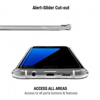 Cadorabo Hülle für Samsung Galaxy S7 EDGE - Hülle in STAR TRANSPARENT - Handyhülle aus TPU Silikon im LED-Blitzlicht-Design - Silikonhülle Schutzhülle Ultra Slim Soft Back Cover Case Bumper - Vorschau 2