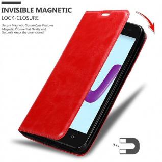Cadorabo Hülle für WIKO SUNNY 3 in APFEL ROT Handyhülle mit Magnetverschluss, Standfunktion und Kartenfach Case Cover Schutzhülle Etui Tasche Book Klapp Style - Vorschau 3