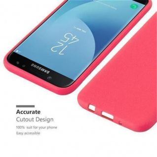 Cadorabo Hülle für Samsung Galaxy J7 2017 in FROST ROT - Handyhülle aus flexiblem TPU Silikon - Silikonhülle Schutzhülle Ultra Slim Soft Back Cover Case Bumper - Vorschau 3