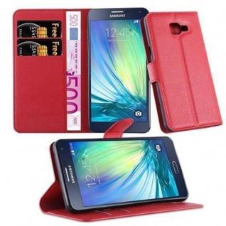 Cadorabo Hülle für Samsung Galaxy A5 2016 in KARMIN ROT - Handyhülle mit Magnetverschluss, Standfunktion und Kartenfach - Case Cover Schutzhülle Etui Tasche Book Klapp Style