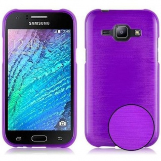 Cadorabo Hülle für Samsung Galaxy J1 2015 in LILA - Handyhülle aus flexiblem TPU Silikon - Silikonhülle Schutzhülle Ultra Slim Soft Back Cover Case Bumper