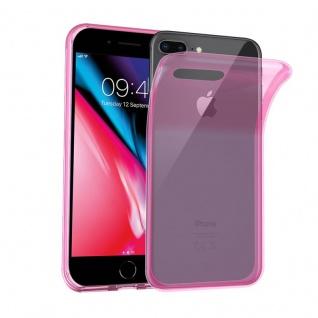 Cadorabo Hülle für Apple iPhone 8 PLUS / iPhone 7 PLUS / iPhone 7S PLUS in TRANSPARENT PINK - Handyhülle aus flexiblem TPU Silikon - Silikonhülle Schutzhülle Ultra Slim Soft Back Cover Case Bumper