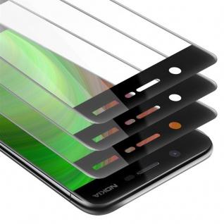 Cadorabo 3x Vollbild Panzer Folie für Nokia 5 2017 - Schutzfolie in TRANSPARENT mit SCHWARZ - 3er Pack Gehärtetes (Tempered) Display-Schutzglas in 9H Härte mit 3D Touch